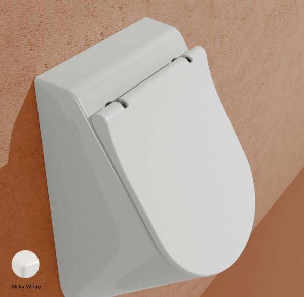 App Soft-closing cover suitable for urinal Milky White