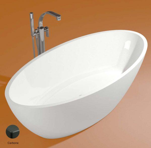 App Bath-tub in Pietraluce 165cm Carbone Matte