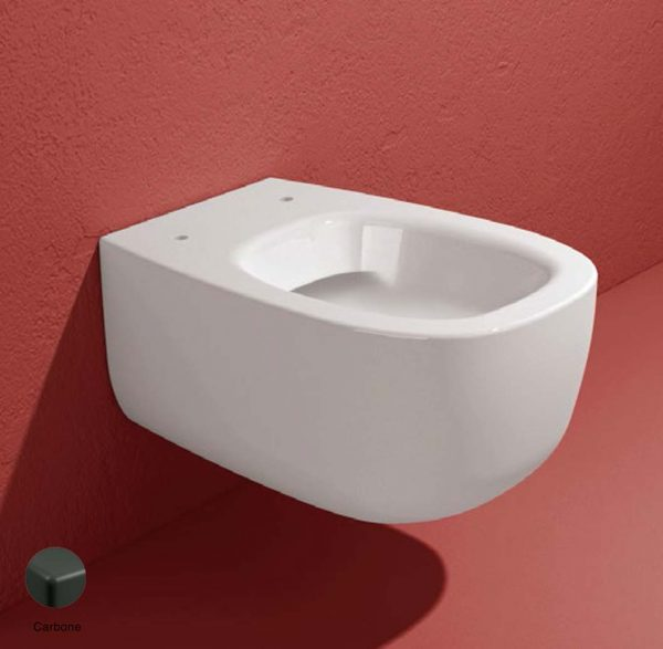 Bonola Wall hung WC with goclean system Carbone