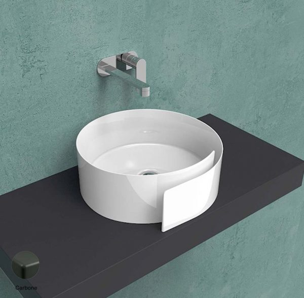 Roll Countertop basin 44 cm without overflow, without tap ledge Carbone