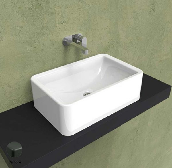 Nile Countertop basin 62 h 20 cm Carbone