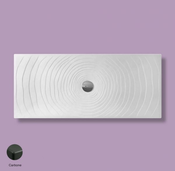 Water Drop Laid on or built-in in the floor shower tray 160x70 cm Carbone