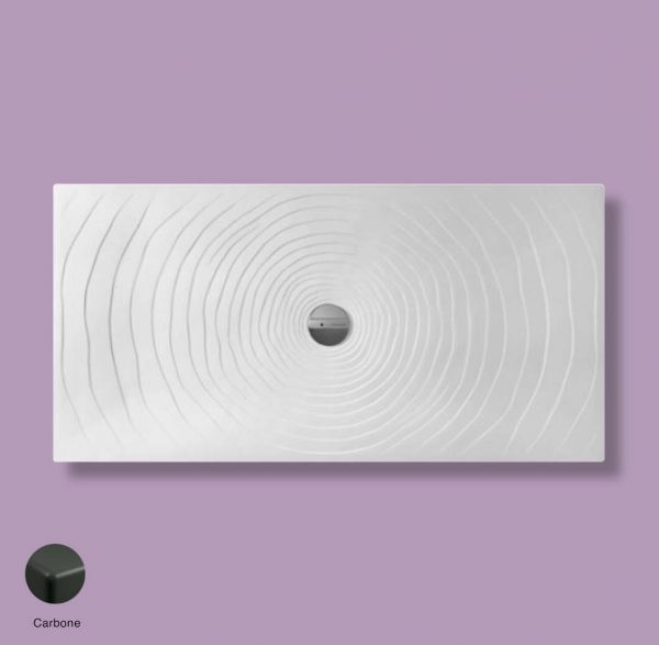 Water Drop Laid on or built-in in the floor shower tray 160x80 cm Carbone