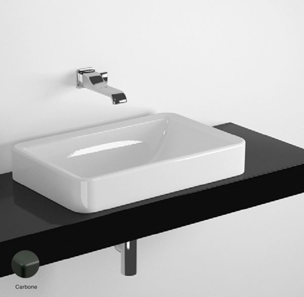 Nile Shelf from 80 to 250 x 46 x h 10 cm, for Nile 62 recessed basin Carbone
