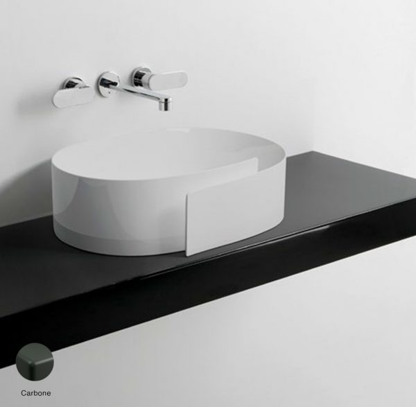Roll Shelf from 80 to 250 x 46 x h 10 cm suitable for Roll 56 basin Carbone