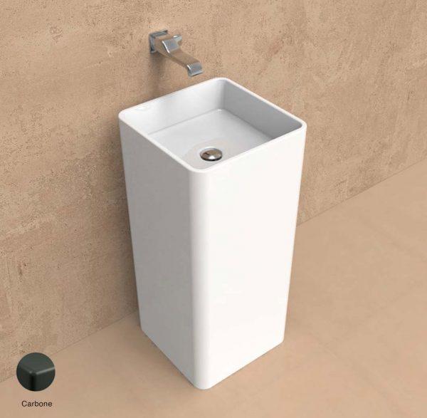 Monowash Wall column-basin 40 cm Carbone