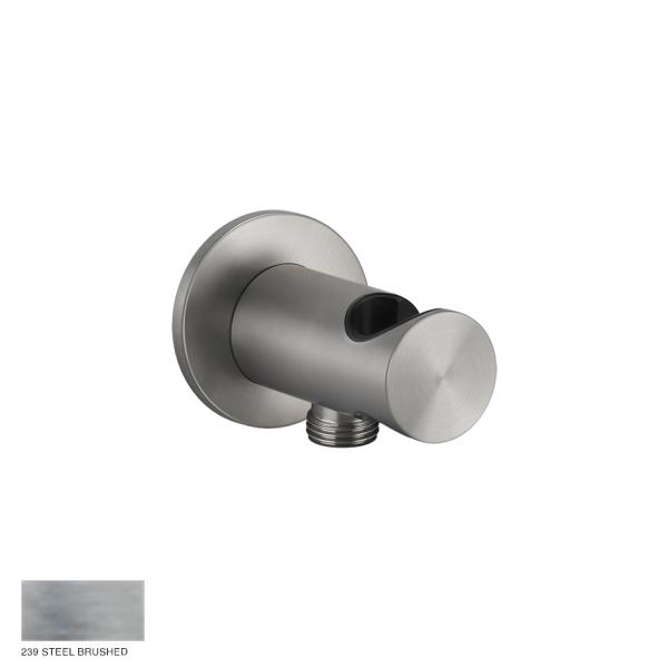 Gessi 316 Handshower hook with water outlet 239 Steel brushed