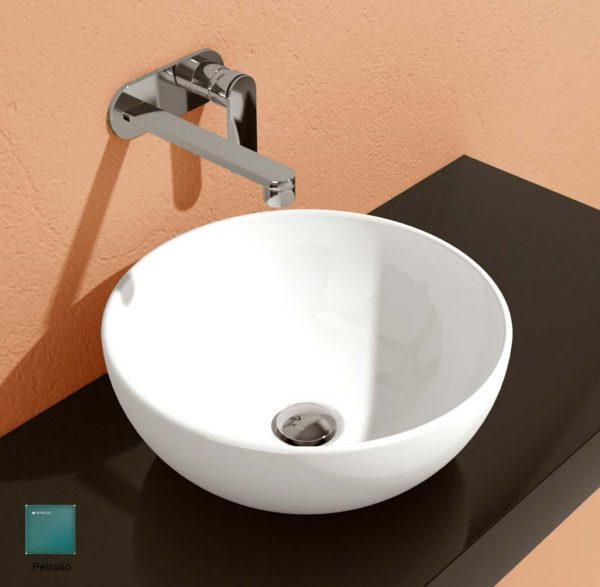 App Countertop Basin 40 cm Petrolio Matte
