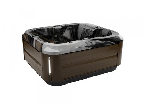 J-315 Hot Tub Modern Hardwood / Midnight 193 x 168 x 81h