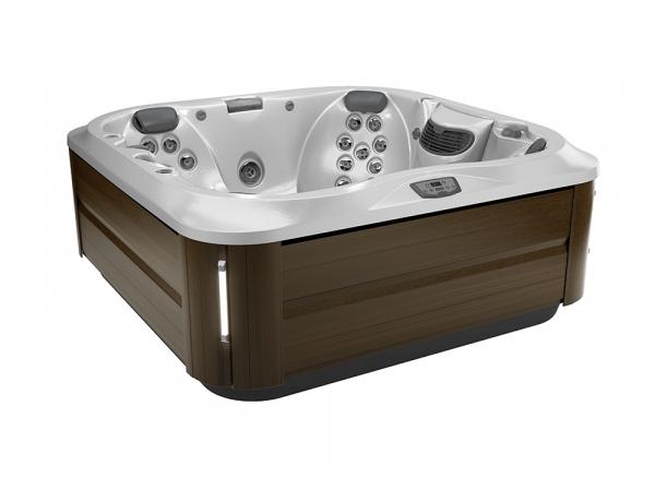 J-335 Hot Tub Modern Hardwood / Silver Pearl 214 x 214 x 92h