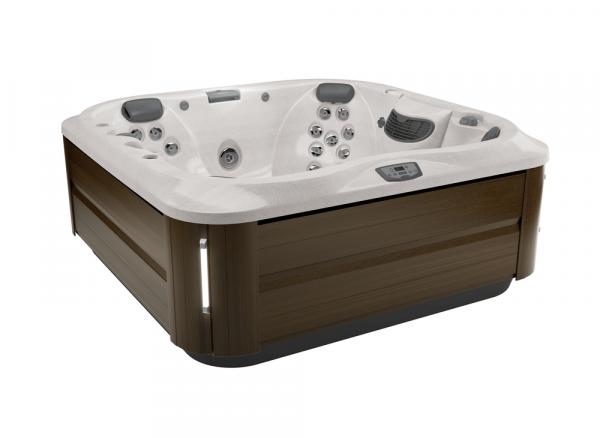 J-335 Hot Tub Modern Hardwood / Sahara 214 x 214 x 92h