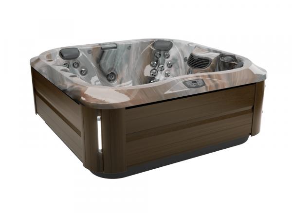 J-335 Hot Tub Modern Hardwood / Monaco 214 x 214 x 92h