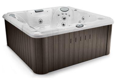 J-235 Hot Tub Platinum / Roasted Chestnut, EcoShield Insulation 213 x 213 x 91 h