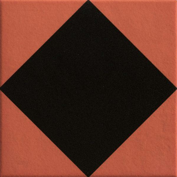 Mattonelle Margherita Rhombus Black Matte 10mm 20.5 x 20.5