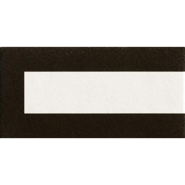 Mattonelle Margherita Frame Black Matte 10mm 20.5 x 10.1