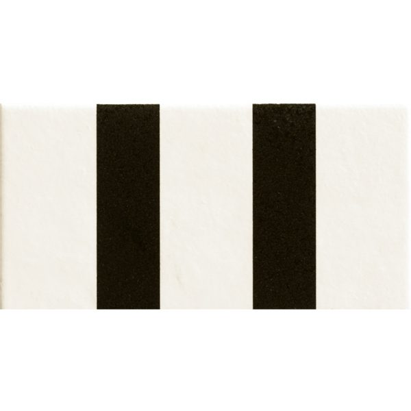 Mattonelle Margherita Parallel Black Matte 10mm 20.5 x 10.1