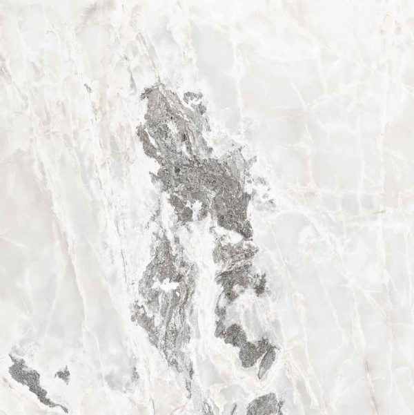 Onyx and More White Blend Glossy 6mm 120 x 120